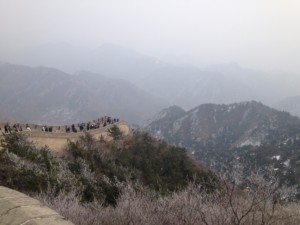 View from great wall - trees, grass, mountains
