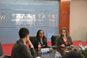 Haben and Tai speak at conference, Renmin University School of Law