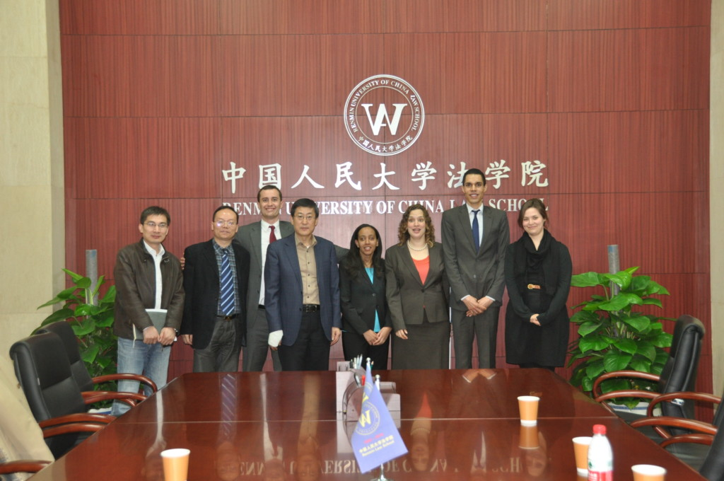 Group photo with officials at Renmin School of Law