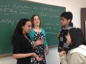 Haben and Tai talk with students at Renmin University School of Law