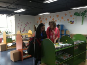 Haben and Tai read braille books at Blind Museum