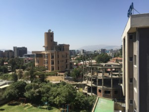 Downtown Addis Ababa skyline.