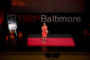 Haben speaking at TEDx Baltimore