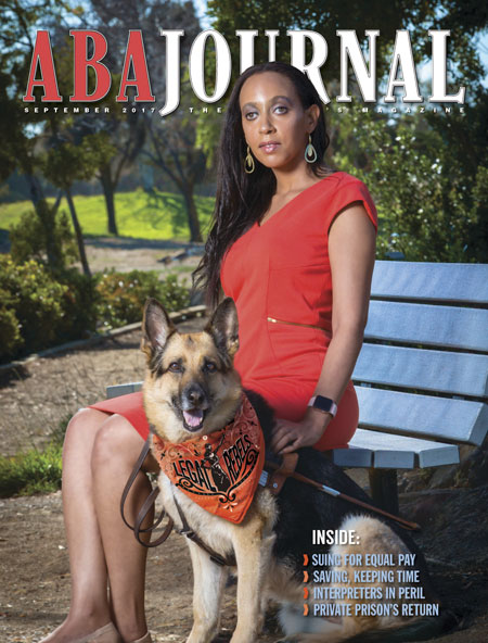 Haben & Maxine on the cover of the ABA Journal