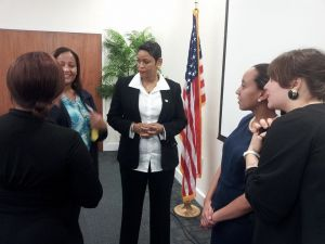 Ms. Stephanie Barnes, Haben, and conference attendees