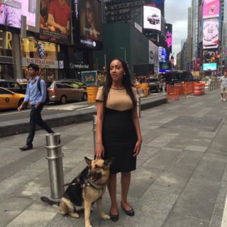 Haben and Maxine in Times Square